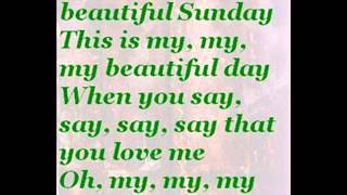 October Cherries - Beautiful Sunday (with lyrics)