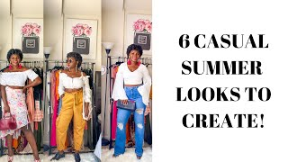 CASUAL SUMMER LOOKS TO CREATE!