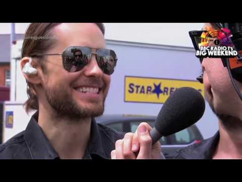 Jared Leto laughing