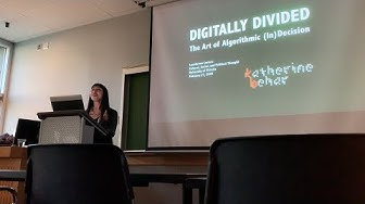 """Katherine Behar, """"Digitally Divided,"""" Lansdowne Lecture at the University of Victoria"""