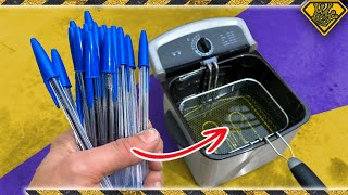 Deep Frying 50 Pens Has A CRAZY Effect