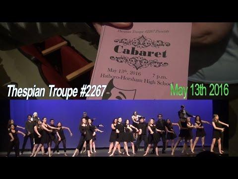 THESPIAN TROUPE CABARET on May 13th 2016 - Hatboro Horsham High School - Horsham PA