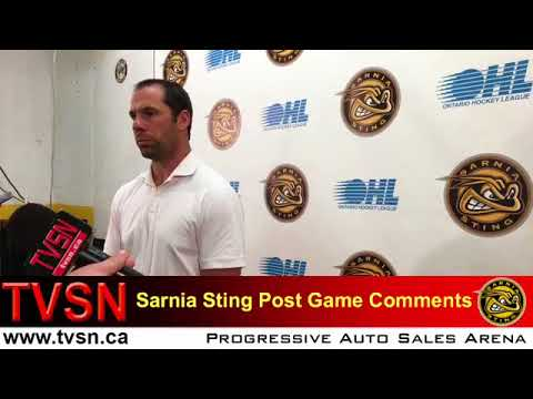 Post Game comments with Coach David Legwand Sting vs  Ottawa 7 2 final