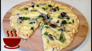 Пицца на лаваше на сковороде #пицца