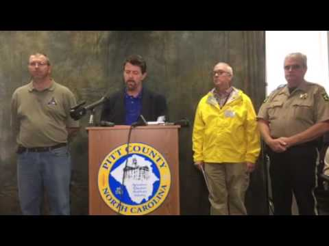 Pitt County news conference about Matthew aftermath