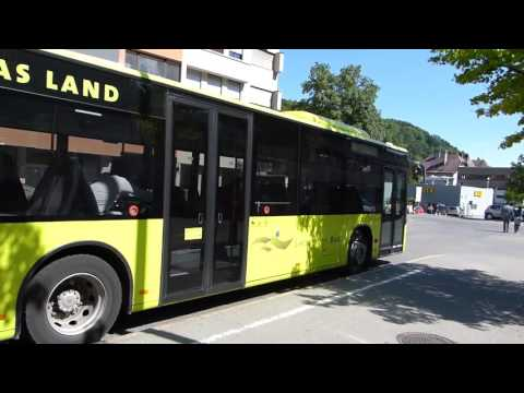 Liechtenstein Buses At Feldkirch (Austria) 25 May 2016