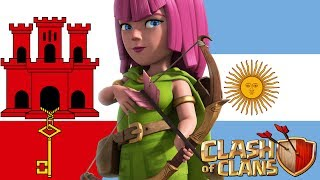 GUERRAZA! CWC FW: Gibraltar VS Argentina | Clash of Clans
