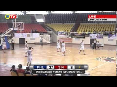 Philippines vs Singapore - 2nd Discovery Women's Basketball Invitational