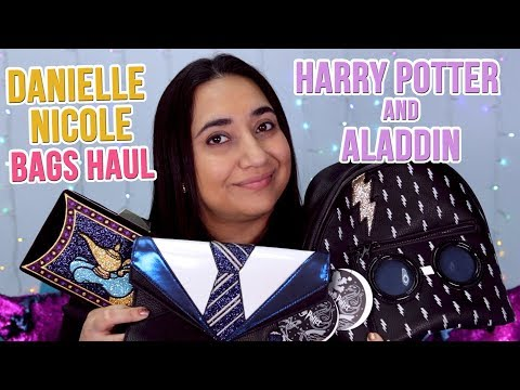 Danielle Nicole Harry Potter and Aladdin Bags Haul and Review  GeekGlitz
