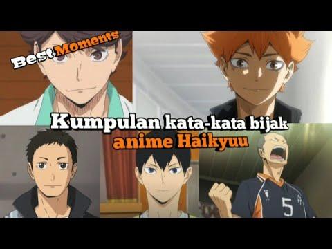 Best Moments Kumpulan Kata Kata Bijak Anime Haikyuu Youtube