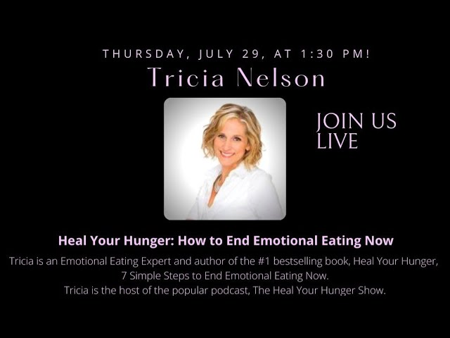Join me LIVE today, Thursday, July 29, at 1:30 pm when I interview Tricia Nelson