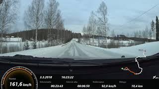 Ouneva Itäralli 2018 SS 4 Oskola In-car Leinonen-Minkkinen #6…
