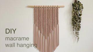 DIY | macrame wall hanging Azt…