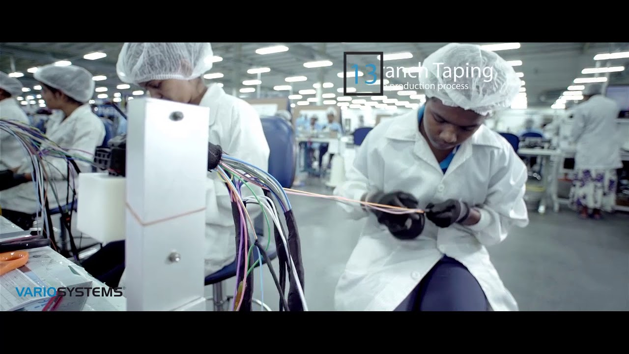 hight resolution of variosystems wire harness production