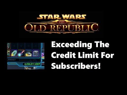 SWTOR: I Hit Subscriber Credit Cap (4.3 Billion Credits)