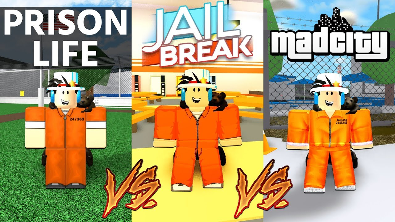 Prison Life Vs Jailbreak Vs Mad City Which Game Is Better