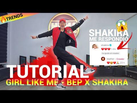 Black Eyed Peas, Shakira – GIRL LIKE ME   TUTORIAL Trend oficial
