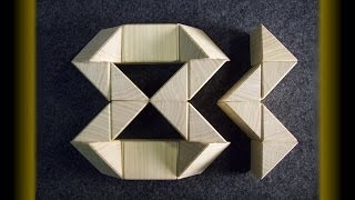 Wooden Rubik's twist (or snake) puzzle