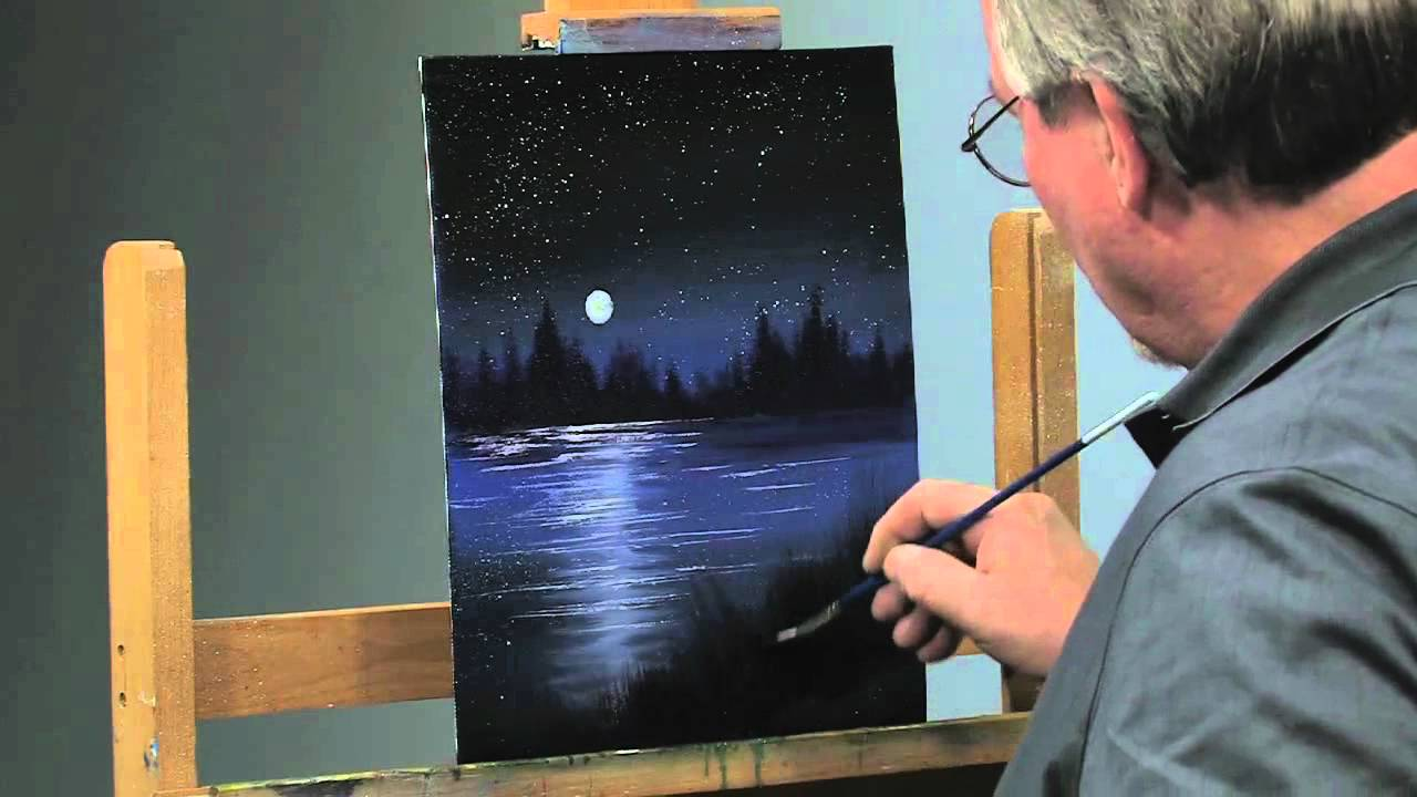PaintAlong How to Paint a Night Scene in Oils Part 2  YouTube