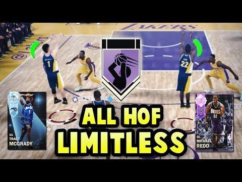 NBA 2K18 ALL HALL OF FAME LIMITLESS RANGE SQUAD! *13x HOF LIMITLESS* | NBA 2K18 MyTEAM SQUAD BUILDER