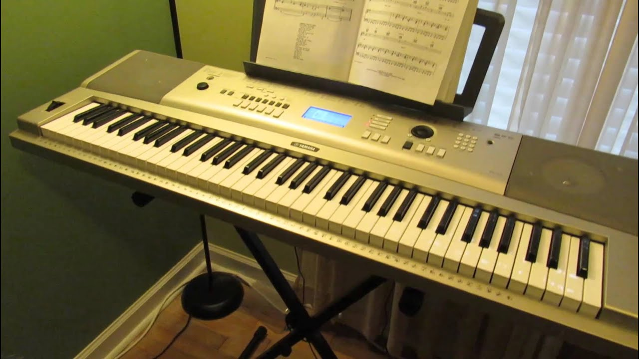 yamaha ypg 235 recording layers demo playing keyboard