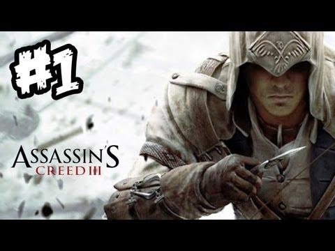 Assassin's Creed 3 Gameplay Walkthrough Part 1 [HD] (Xbox 360/PS3 AC3 Gameplay Walkthrough)