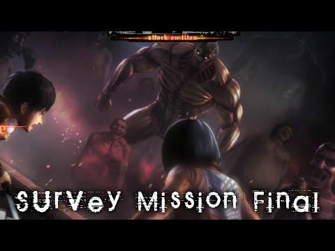 (PS4)Shingeki No Kyojin: Wings of Freedom | Survey Mission | Deepest Dephts Special Battlefield 2/2