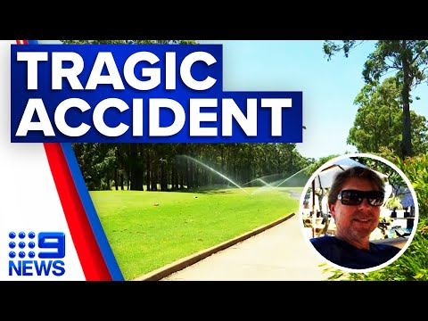Man killed in freak accident on golf course | 9 News Australia thumbnail