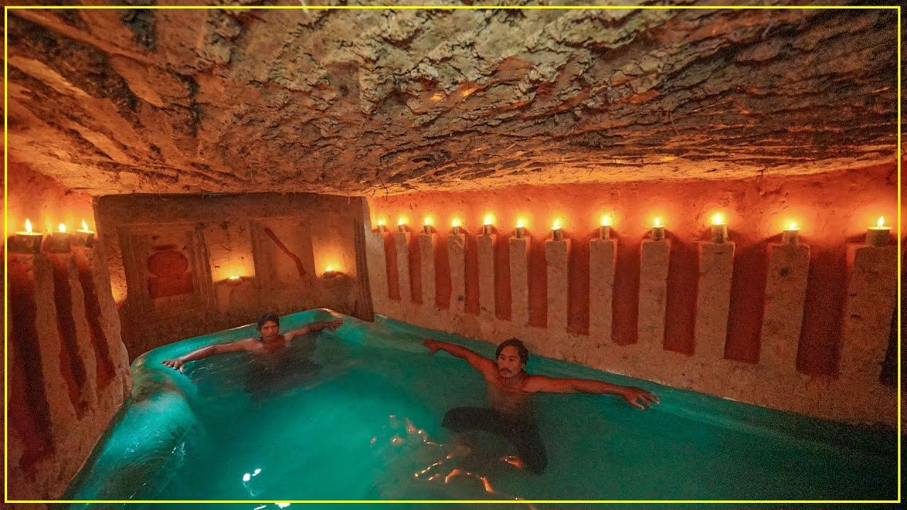 Build Secret Temple Underground House Water Slide To Tunnel Swimming Pools Underground