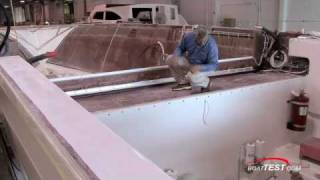 Bertram Yachts Innovator in Centerline Fiberglass Fuel Tank 2008 (HQ) - By BoatTEST.com