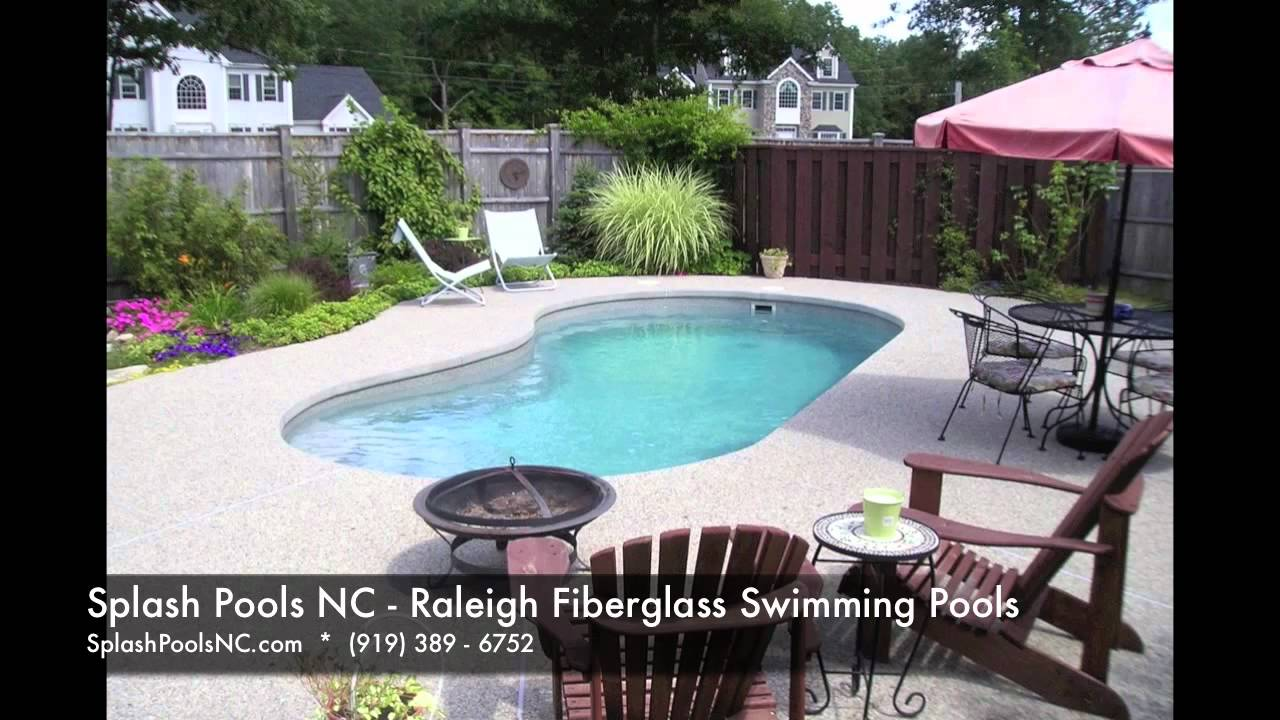 Raleigh Fiberglass Pools Splash Pools Kidney Shaped