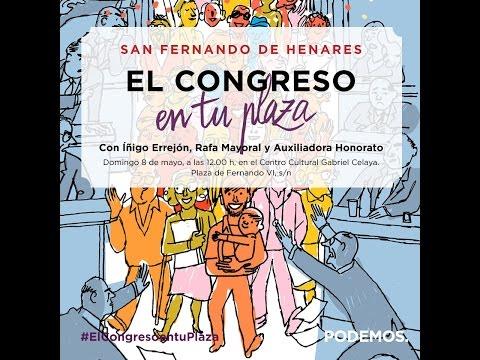 """""""El Congreso en tu plaza"""" en San Fernando de Henares"""