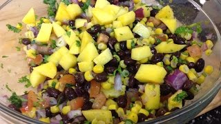 Black Bean, Mango And Corn Salsa