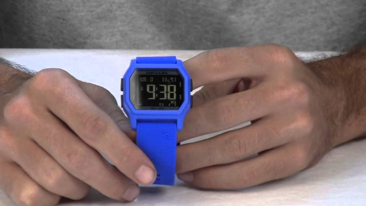 Rip Curl Atom Digital Watch Review at Surfboards.com - YouTube 54d4ed3bd5