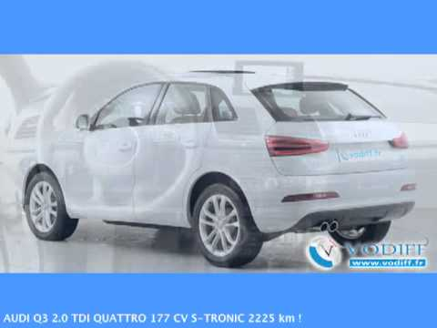vodiff audi occasion alsace audi q3 2 0 tdi quattro 177 cv s tronic 2225 km youtube. Black Bedroom Furniture Sets. Home Design Ideas