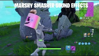Marshy Smasher Marshmello Axe Sound Effects on All Surfaces Fortnite Battle Royale
