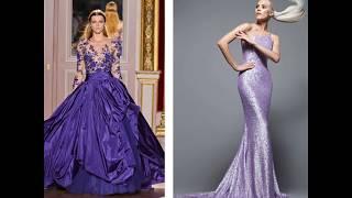 Фиолетовые платья 2017