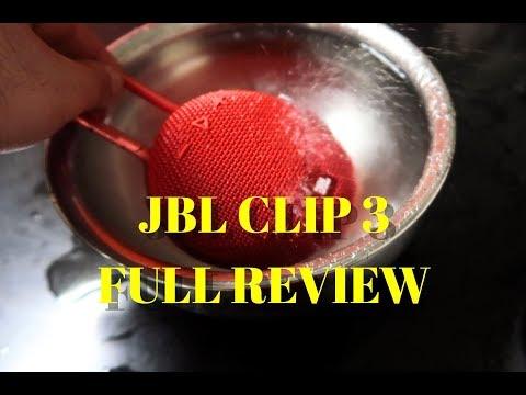 JBL Clip 3 Full review II Sound test II Bass test II water test