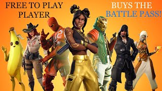 FREE TO PLAY BUYS THE BATTLE PASS IN FORTNITE! l LIVE STREAM
