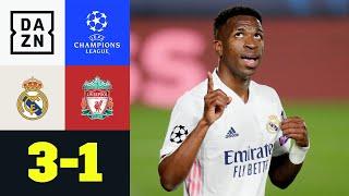 Doppelter Vinicius! Real legt vor: Real Madrid - Liverpool 3:1 | UEFA Champions League