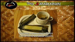 Cooking   Pinoy Hapagkainan SUMANG KAMOTENG KAHOY