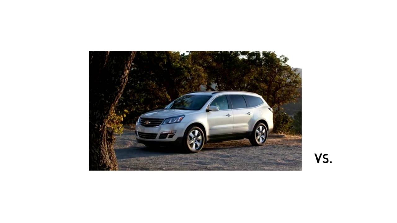 compare the chevy traverse vs nissan pathfinder youtube. Black Bedroom Furniture Sets. Home Design Ideas