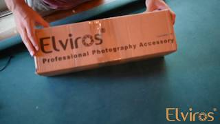 How to set up Elviros photo studio light box?
