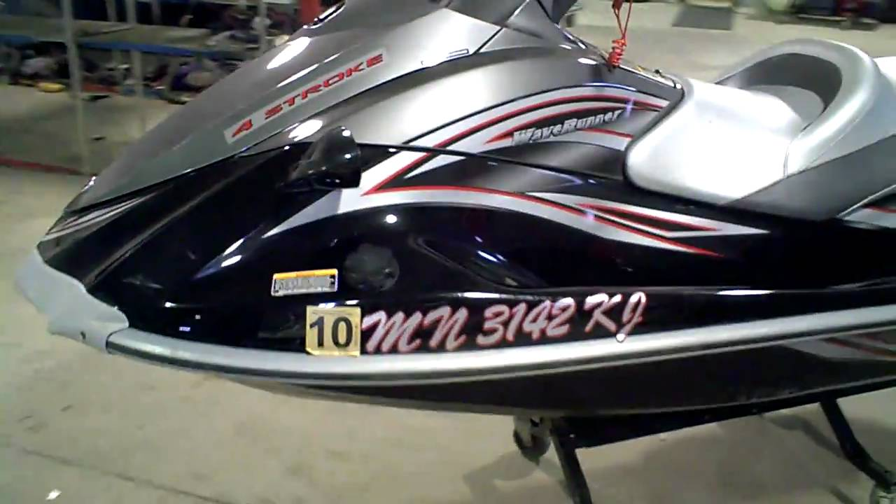 2007 Yamaha VX Cruiser 1100 4 Stroke LOT 821A - YouTube
