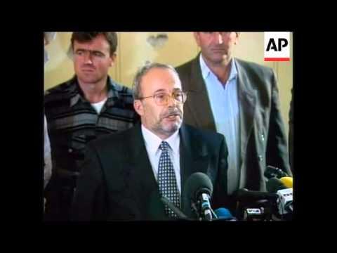 Albania - Fatos Nano holds press conference