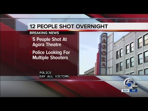 12 shot in Cleveland overnight, 1 dead