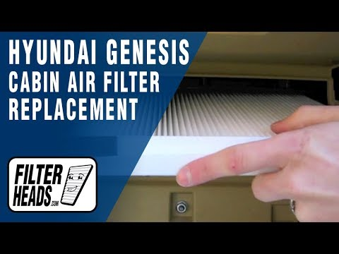 How To Replace Cabin Air Filter 2009 2016 Hyundai Genesis