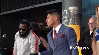 Intense Face Off Between Adrien Broner &  Jessie Vargas EsNews Boxing