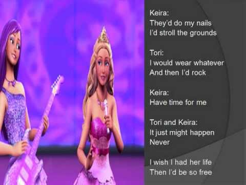 I wish I had her life - Barbie - princess and the popstar