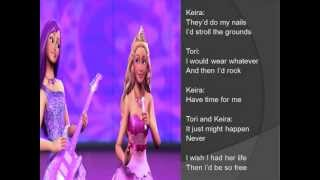 I wish I had her life - Barbie - princess and the popstar